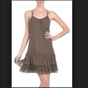 A'reve gray slip dress
